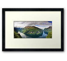 Ornevegen view Framed Print