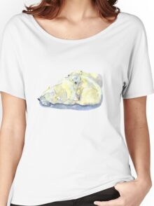 polar bear and young bear Women's Relaxed Fit T-Shirt