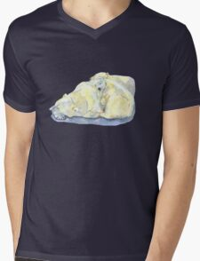 polar bear and young bear Mens V-Neck T-Shirt