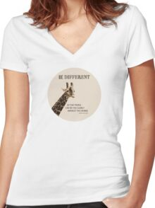 Be Different Women's Fitted V-Neck T-Shirt