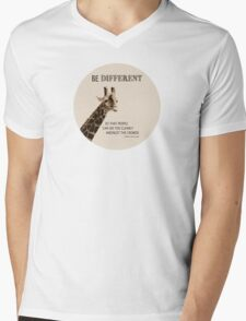 Be Different Mens V-Neck T-Shirt