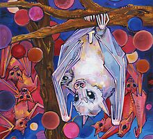 Dayak fruit bats by Gwenn Seemel