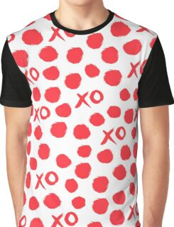 XOXO Love // hearts dots valentines day red and white by andrea lauren Graphic T-Shirt