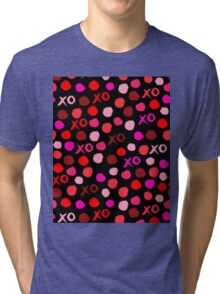 XOXO Love // hearts dots valentines day reds pastel and white by andrea lauren Tri-blend T-Shirt