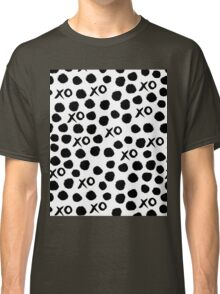 XOXO Love // hearts dots valentines day black and white by andrea lauren Classic T-Shirt