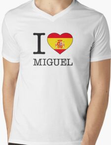 I ♥ MIGUEL Mens V-Neck T-Shirt