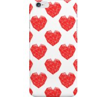 Love Heart geometric valentines day red and white minimal abstract valentine iPhone Case/Skin