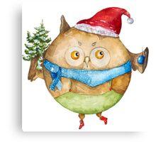 Christmas owl Canvas Print