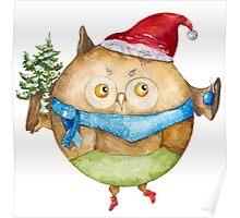Christmas owl Poster