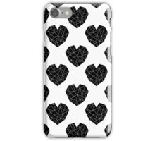 Love Heart geometric valentines day black and white minimal abstract valentine iPhone Case/Skin