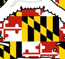 Maryland flag crab outline Sticker
