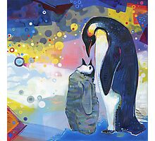 Emperor penguins Photographic Print