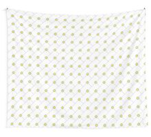 Yellow Square Pattern Wall Tapestry