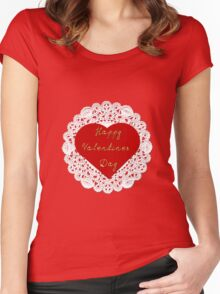 Happy Valentines Day Women's Fitted Scoop T-Shirt