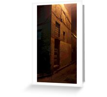 Mysterious Building in Laneway Greeting Card