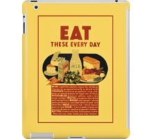 1940 Eat healthy food school poster iPad Case/Skin