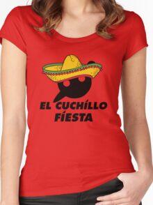 El Cuchillo Fiesta Knife Party Women's Fitted Scoop T-Shirt
