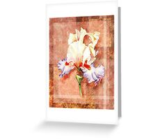 Gorgeous Iris Decorative Painting Greeting Card