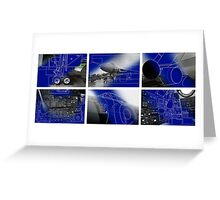 Vulcan Bomber Blue Prints Greeting Card