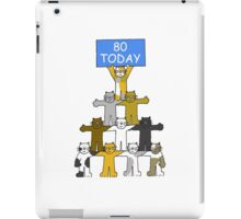 80th Birthday for cat lovers. iPad Case/Skin