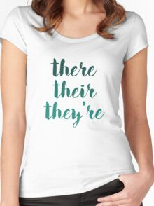 there their they're grammar police tee Women's Fitted Scoop T-Shirt