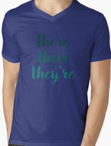 there their they're grammar police tee Mens V-Neck T-Shirt