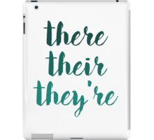 there their they're grammar police tee iPad Case/Skin