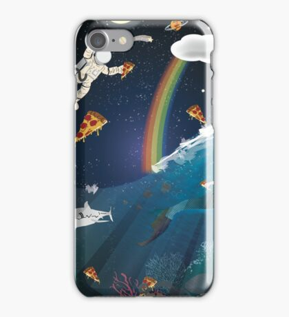 Intergalactic Undersea Pizza Party iPhone Case/Skin