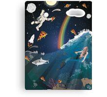 Intergalactic Undersea Pizza Party Canvas Print