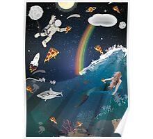 Intergalactic Undersea Pizza Party Poster