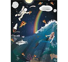 Intergalactic Undersea Pizza Party Photographic Print