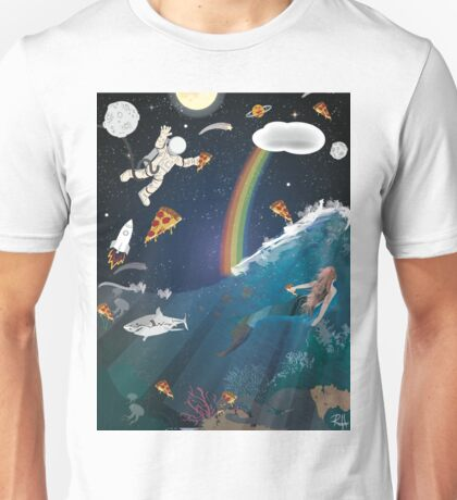 Intergalactic Undersea Pizza Party Unisex T-Shirt