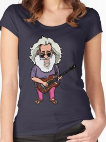 Jerry Garcia (The Grateful Dead) Women's Fitted Scoop T-Shirt
