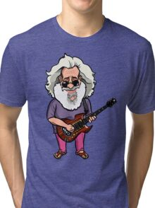 Jerry Garcia (The Grateful Dead) Tri-blend T-Shirt