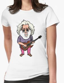 Jerry Garcia (The Grateful Dead) Womens Fitted T-Shirt