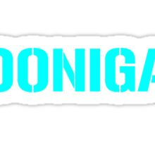 Hoonigan Racing Logo Cyan Sticker