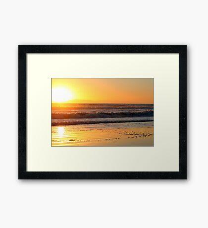 Ventura Sunset Framed Print