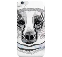 White bear iPhone Case/Skin