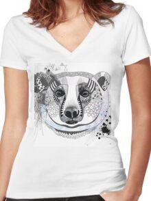 White bear Women's Fitted V-Neck T-Shirt