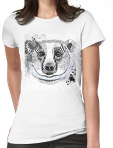 White bear Womens Fitted T-Shirt