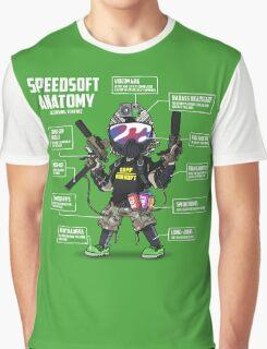SPEEDSOFT ANATOMY TAPP TEE (White writing) Graphic T-Shirt