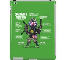 SPEEDSOFT ANATOMY TAPP TEE (White writing) iPad Case/Skin