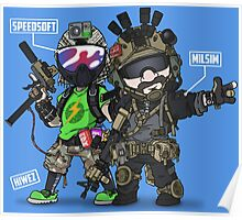 Airsoft and Speedsoft (White writing) Poster