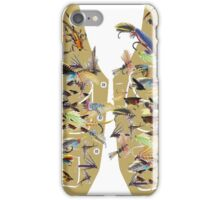 Fly fishing vest with lots of fishing flys iPhone Case/Skin
