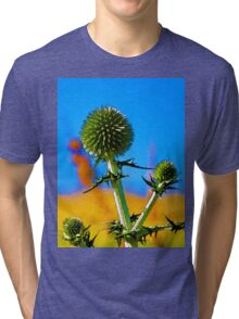 Abstract flowers drawing in pastel colors Take 10 Tri-blend T-Shirt