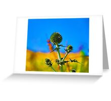 Abstract flowers drawing in pastel colors Take 10 Greeting Card