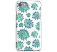 Watercolor Succulent Pattern  iPhone Case/Skin
