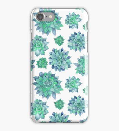 Watercolor Succulent Pattern  iPhone Case/Skin