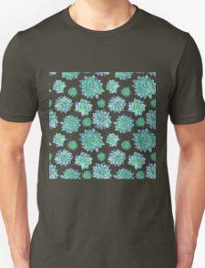 Watercolor Succulent Pattern  T-Shirt