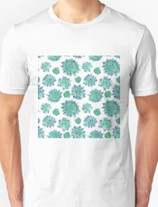 Watercolor Succulent Pattern  Unisex T-Shirt